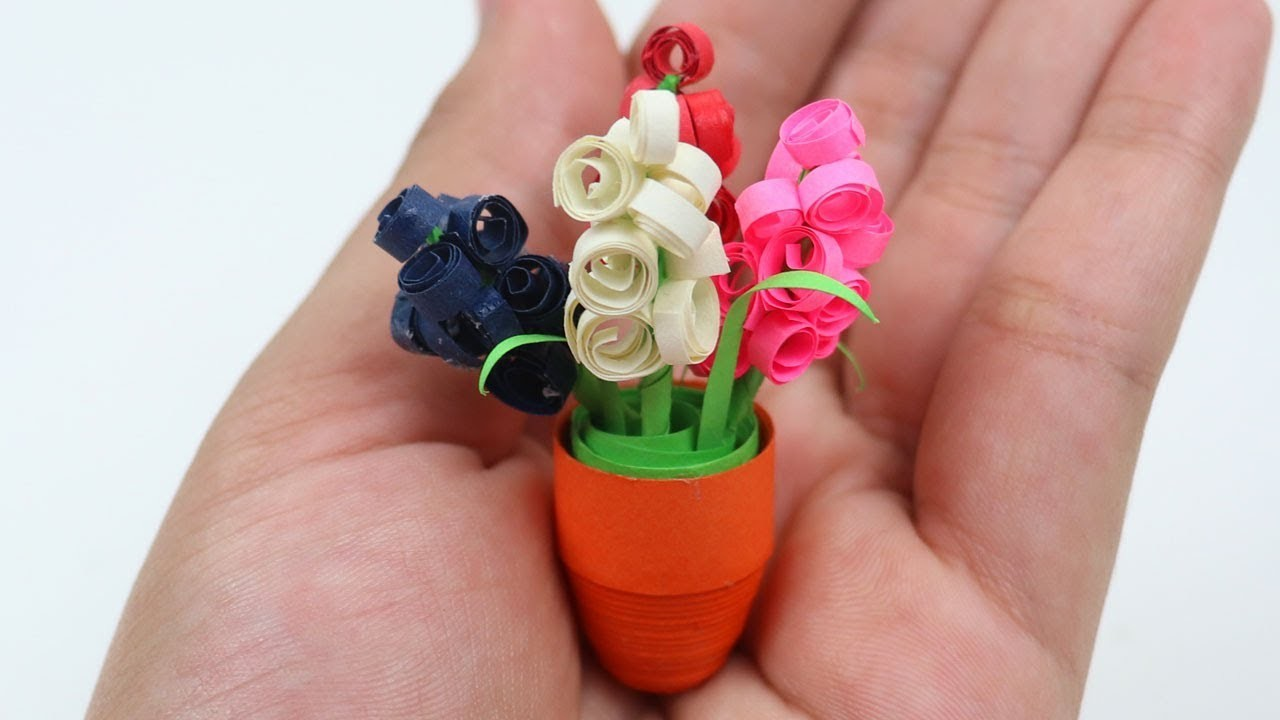 How To Make Paper Quilling Flower Pots Flowers Healthy