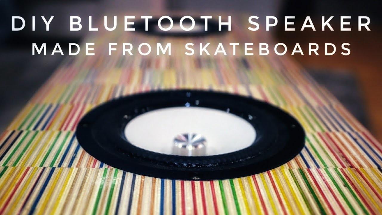 DIY Recycled Skateboard Speaker    portable bluetooth boombox build tutorial