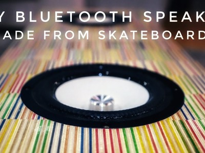 DIY Recycled Skateboard Speaker || portable bluetooth boombox build tutorial