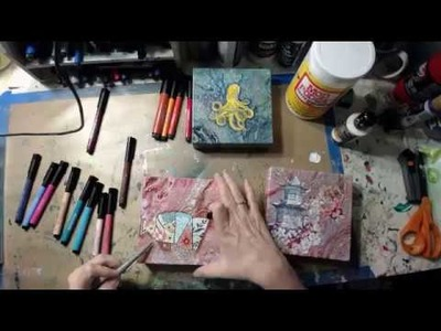 How to add napkins to an acrylic pour