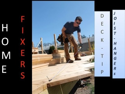How to build a deck: Installing joist hangers