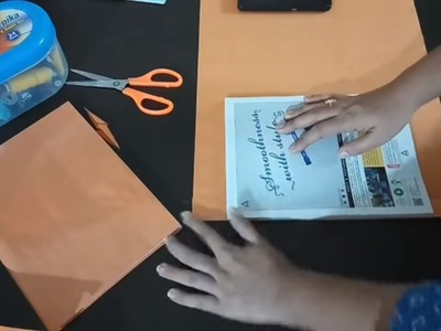 How to cover school books  notebook   how to cover school books with brown paper