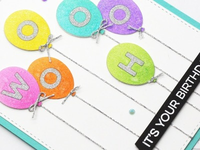 How to Create Die-cut Inlay Balloon Greetings