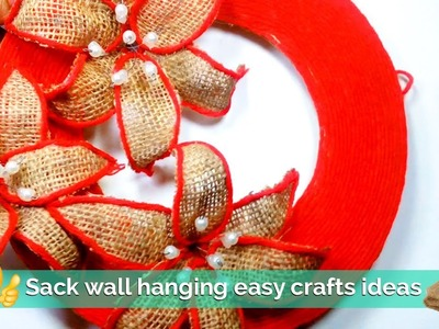 How to create sack wall hanging with easy crafts ideas | Sack Crafts | Best out of waste | DIY