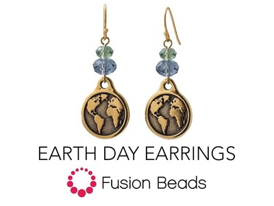 How to create the Earth Day Earrings by Fusion Beads
