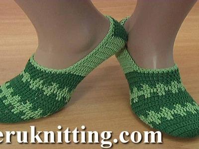 How To Crochet Simple Sock Tutorial 281