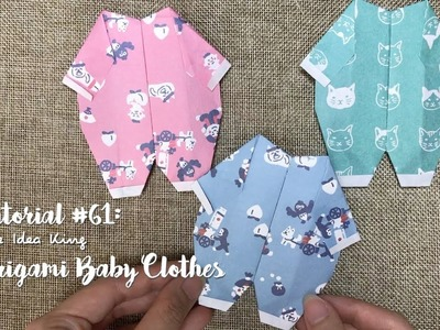 How to DIY Origami Baby Clothes? | The Idea King Tutorial #61