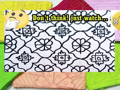 How to draw new nakshi katha design| kids nakshi katha design video tutorial by hope of life