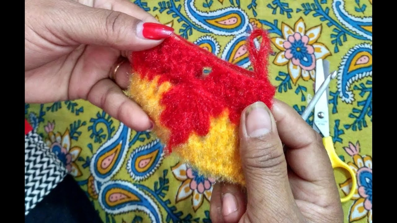How to knit - beautiful leaf design in hindi - crochet pattern