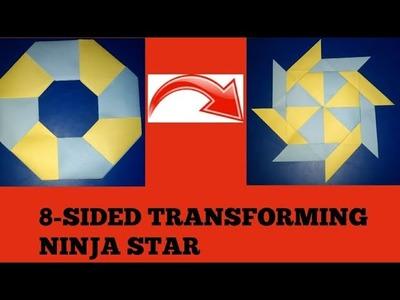 How to make 8 - sided transforming ninja star DIY   CREATIVE CRAFTS