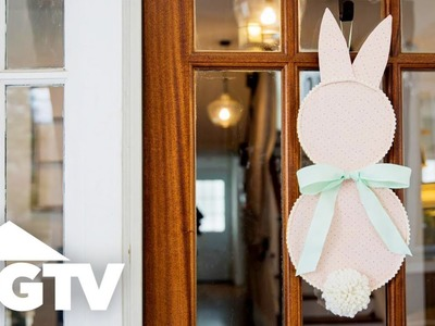 How to Make a Bunny Door Decoration for Easter - HGTV Happy