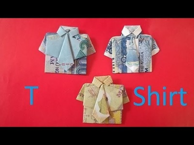 How To Make A Money  Origami  T  - Shirt & Tie