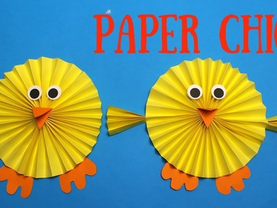 How to Make a Paper Chick | Easy Easter Crafts for Kids