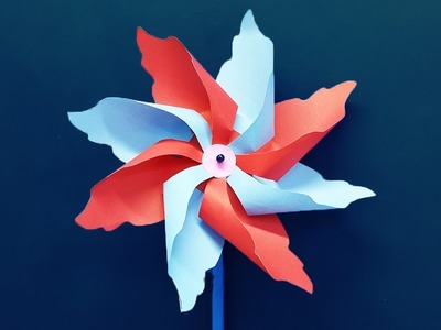 How to make a Paper Windmill - DIY Pinwheel making tutorial for Kids