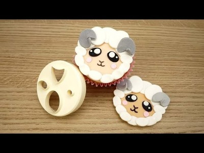 How To Make A Sugar Sheep Cupcake Topper Using The FMM Mix 'n' Match Face Cutter