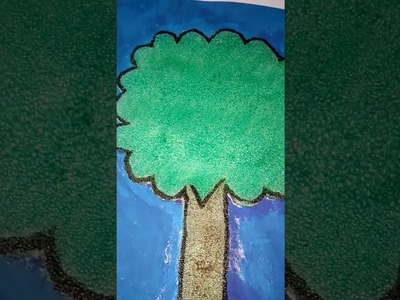 How to make a tree using thermocol