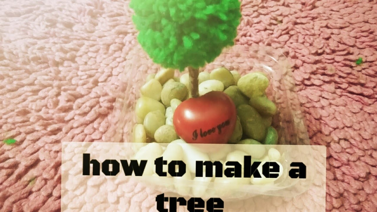 How to make a tree with Woollen thread - table decor-in craft fair channel