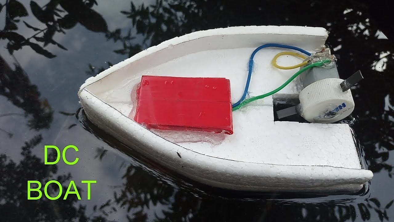 How to make an Electronic motor Boat using the Rmocol and DC motor