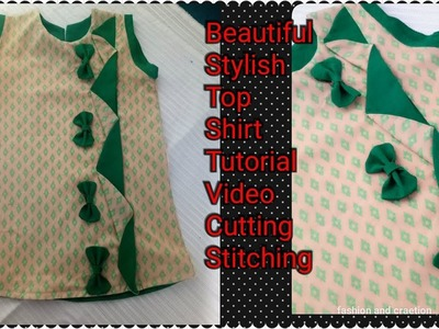 How to make BABY Dress for girl tunic top baby frock designing tutorial LATEST SUMMER DRESS DESIGNS