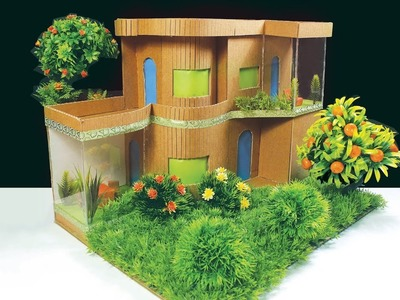 How to make Beautiful ROYALTY HOUSE From Cardboard