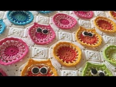 How to make crochet owl  Blanket