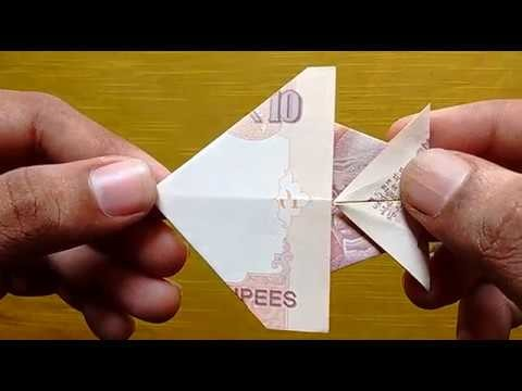 HOW TO MAKE FISH WITH 10 RUPEES NOTE ORIGAMI CRAFT  #SuryaCraft