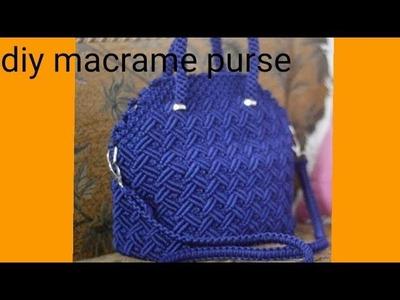 How to make macrame purse # design 19