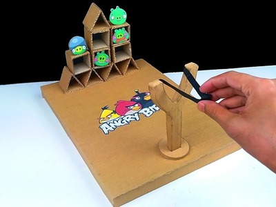 How to Make Real Life Angry Birds Gameplay from Cardboard - DIY Real Life Angry Birds