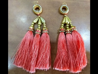 How to make silk thread tassels for blouse at home