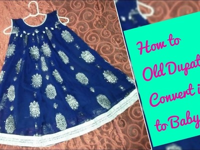 How to Old Dupatta Convert in to a Baby Top Easy Method Full Tutorial