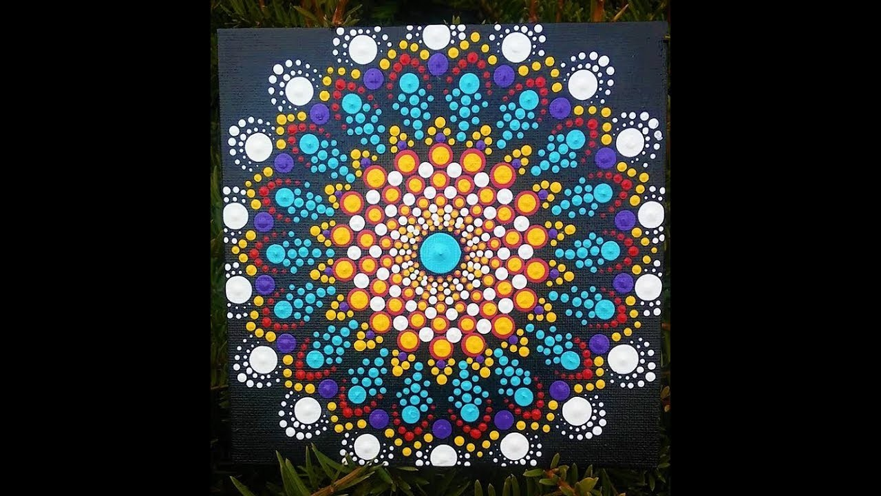 How To Paint Dot Mandalas Easy Beautiful Design Using A Stencil
