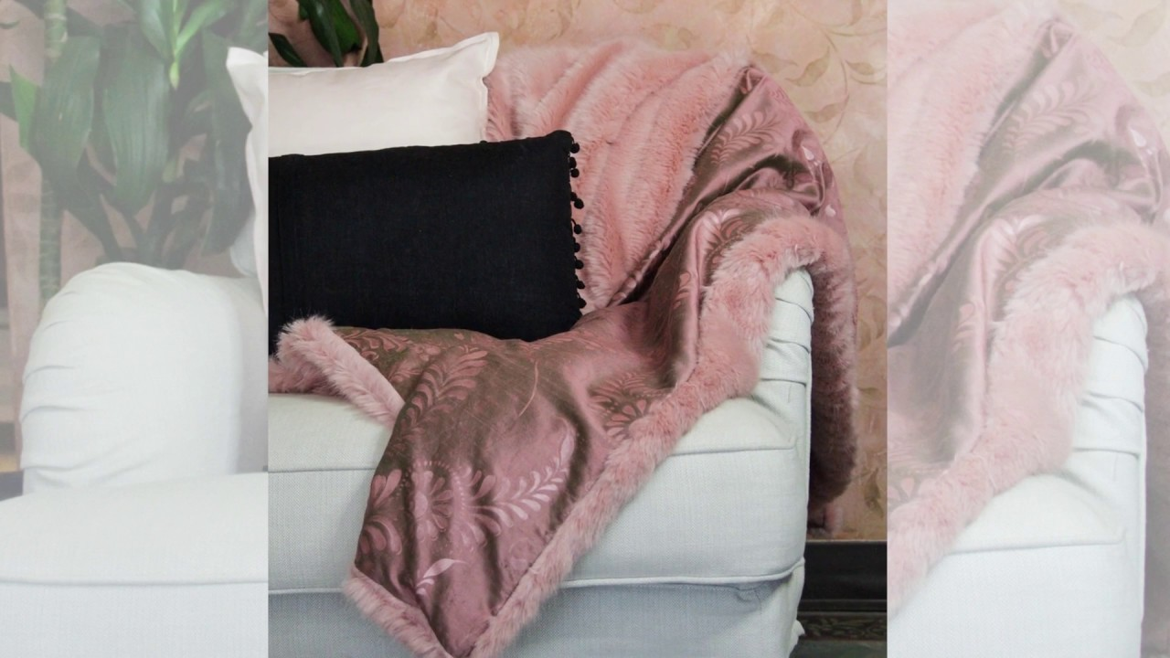 How to Paint Fabric: Stenciling a Pink DIY Throw Blanket