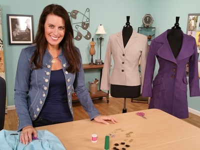 HOW TO SEW A BUTTON WITH A SHANK - RESTYLING JACKETS