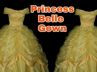 How to stitch PRINCESS BELLE GOWN (Full Tutorial DIY) English Narration
