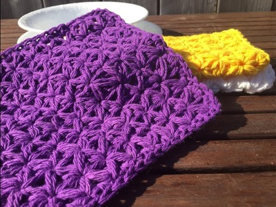 Jasmine Washcloth - A Free Crochet Pattern