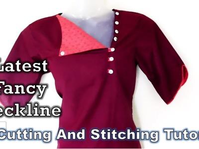Latest Stylish Neckline For Kurti | Fancy Neckline | Tutorial | Diy
