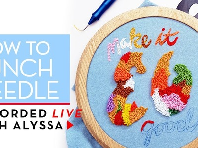Learn how to punch needle #RelaxAndCraft LiveReplay