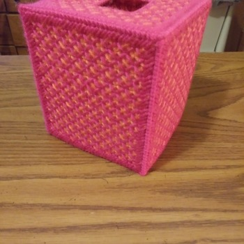 Pretty in Pink & Peach Tissue Box Cover