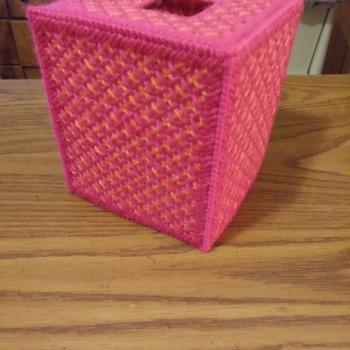 Pretty in Pink & Peach Tissue Box Cover