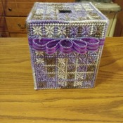 Sparkling in Purple Tissue Box