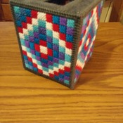 Squares in the Round Tissue Box Cover