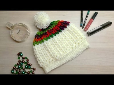 Stay cozy with this puff stitch crochet beanie | Free pattern!