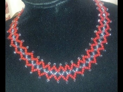 The tutorial on how to make this beautiful beaded jewelry of red abd silver
