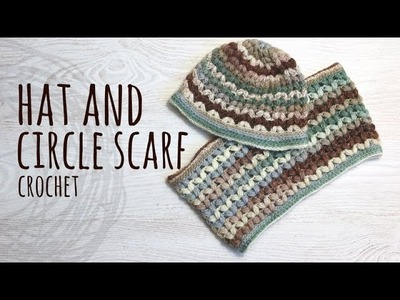Tutorial Hat and Circle Scarf Crochet Puff Stitch