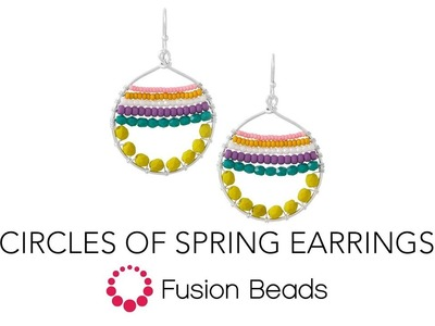 Watch How to Wire Wrap the Circles of Spring Earrings by Fusion Beads