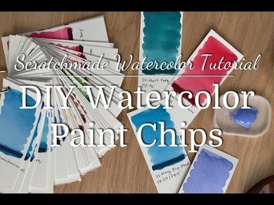 Watercolor Tutorial: DIY Watercolor Paint Chips