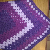 Waves of Purple Baby Blanket