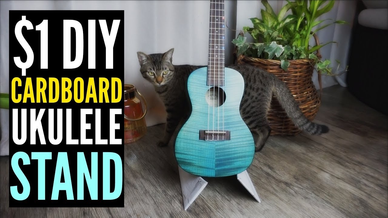 1 diy cardboard ukulele stand do it yourself solutioingenieria Gallery