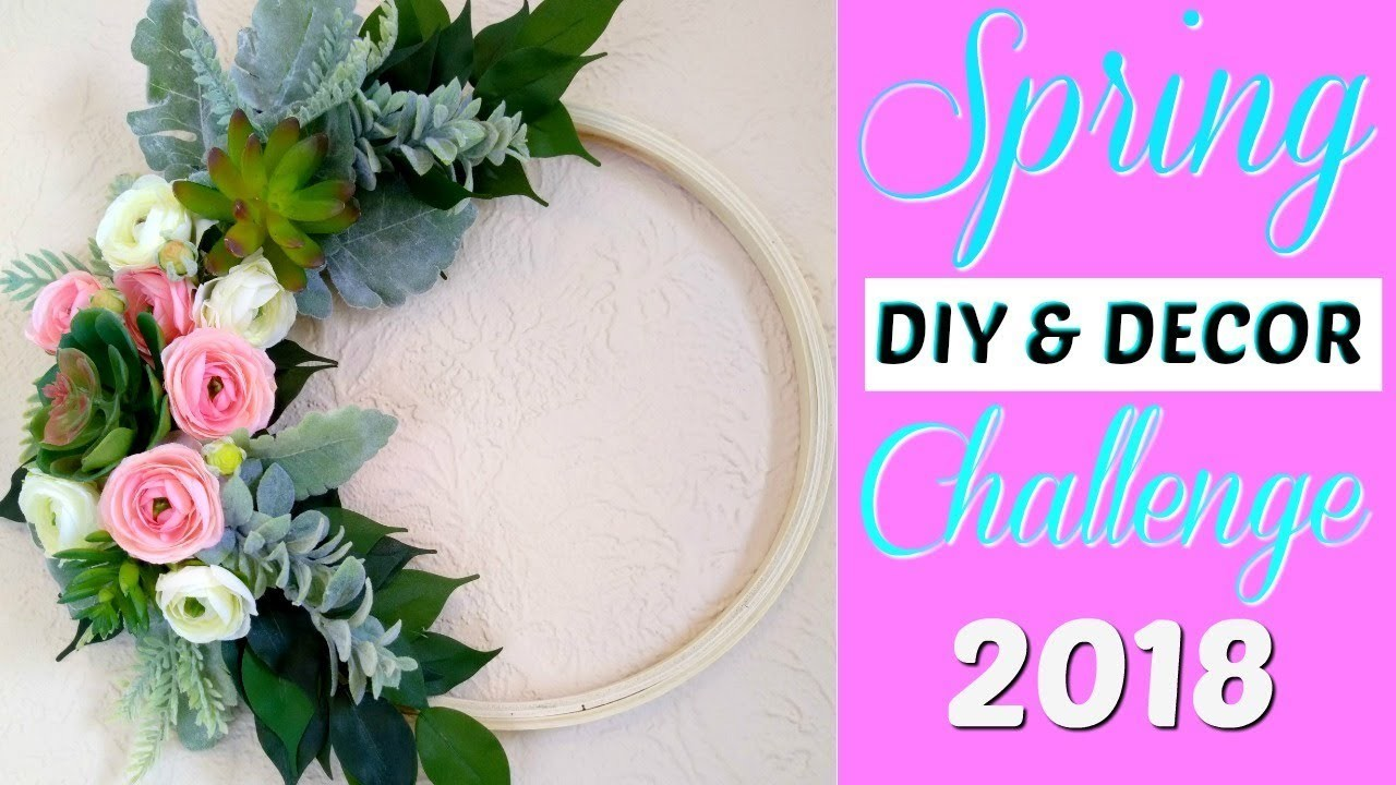 2018 Spring DIY & Decor Challenge - Modern Spring Hoop Wreath