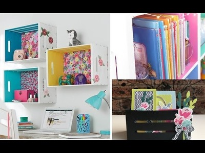 3 DIY Wood Crate Home Decor | Easy & Cute Room Decorating Ideas